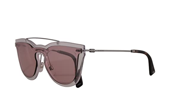 6074ea345b966 Amazon.com  Valentino VA 4008 Sunglasses Transparent w Rose Lens ...