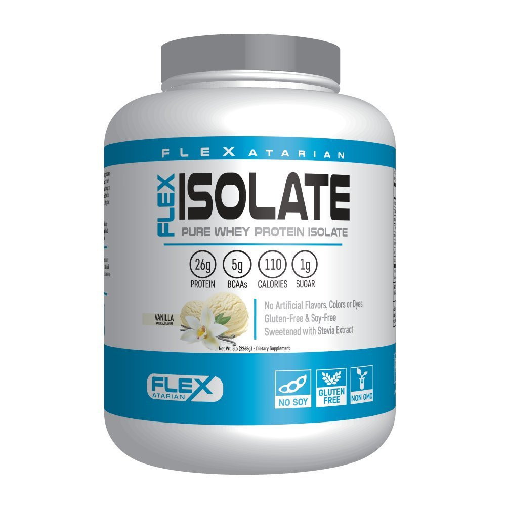 Flexatarian Flex Isolate-Whey Protein Isolate, Vanilla, 5 Lb. by Flexatarian