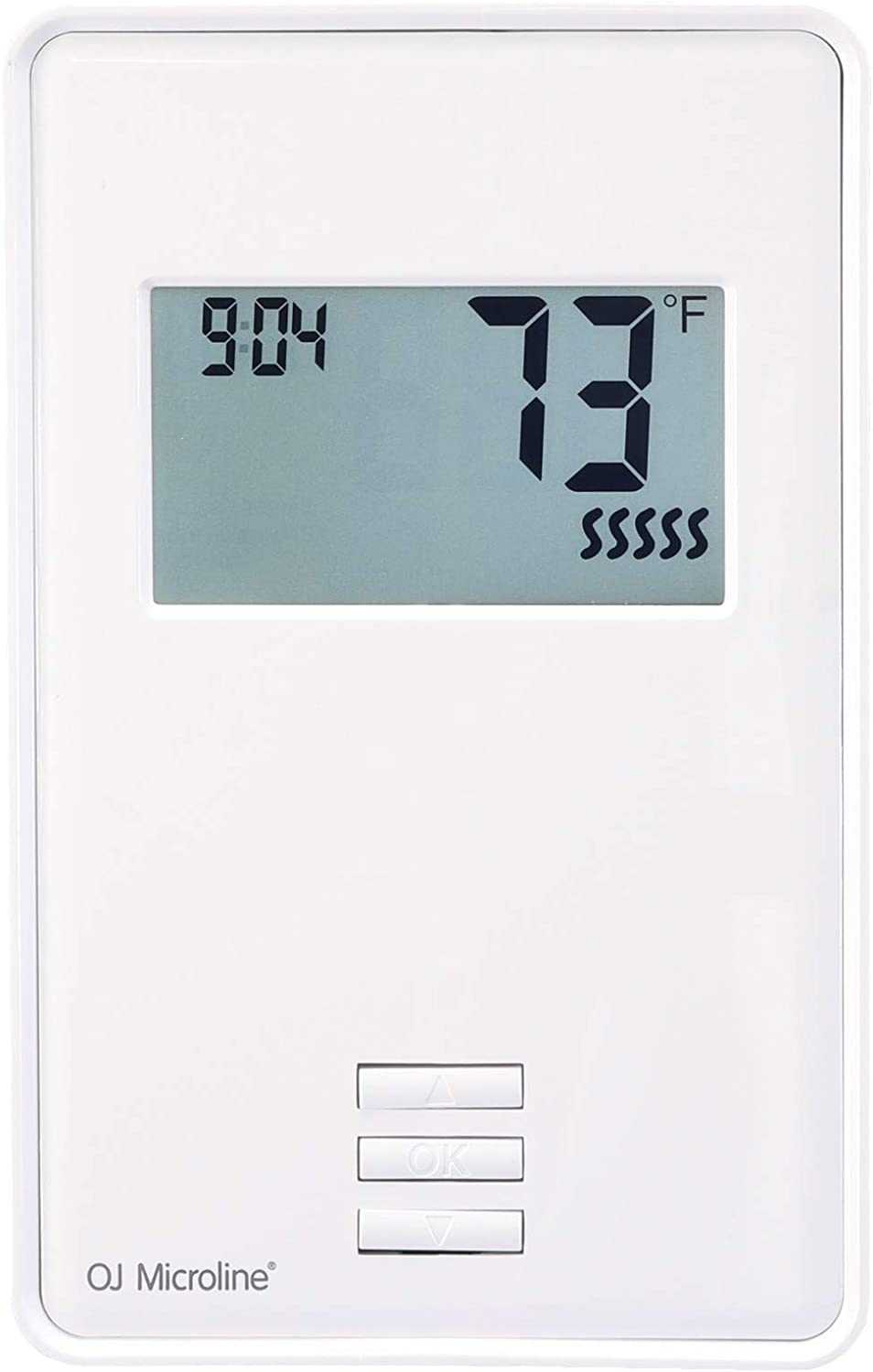 OJ Microline Thermostat with Built-in GFCI. Non Programmable Thermostat for Infloor Heating System, with Dual Sensing and Dual Voltage 120v & 240v Capabilities. Includes Floor Sensor, UTN4-4999