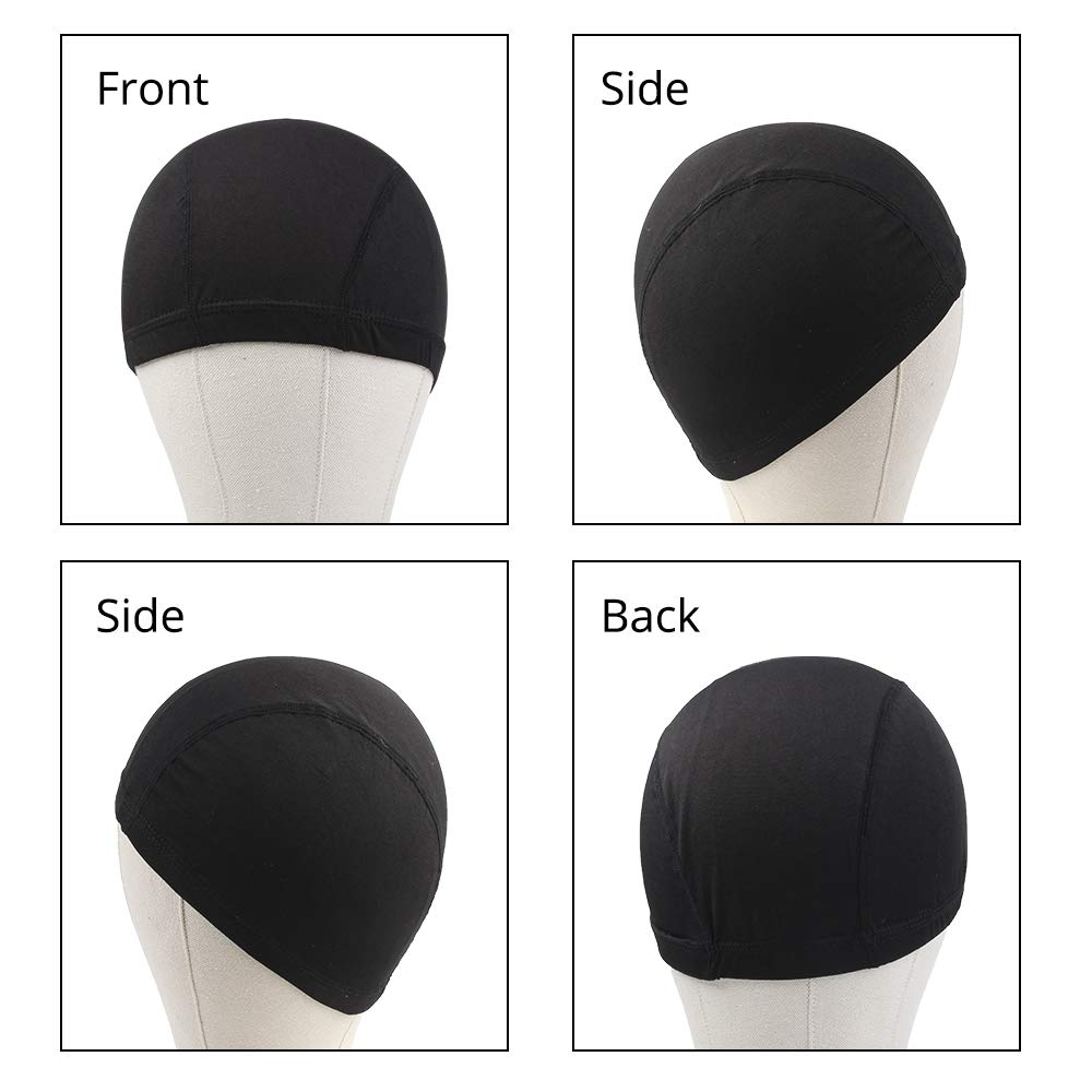 Dome Caps For Wigs 12 Pcs Stretchable Wigs Cap Spandex Dome Wig Caps For Men Women by YOUNIQUE (Image #2)