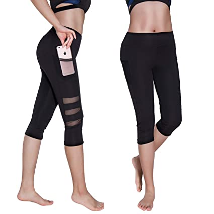 7a6187a7cc629 Amazon.com: RIOJOY Women's Patchwork Mesh Yoga Pants for Women,High Waist  Tummy Control Skinny Fitness Leggings Active Tights: Sports & Outdoors
