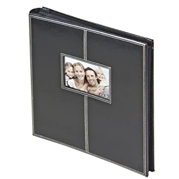 Amazoncom Leather 5 Up Sewn Frame 300 Pocket 4x6 Photo Album