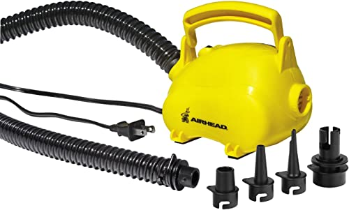 Portable AC Air Pump for Inflatables to Blow Up Dinghy, Kayak, SUP, Towables [Airhead] Picture
