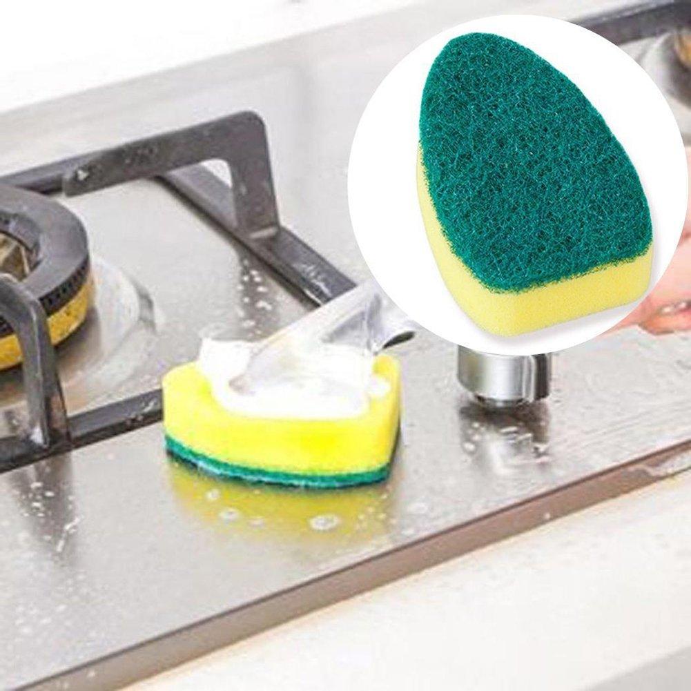 para cocina Herramienta de limpieza multifunci/ón con mango y cepillo para fregar para regalo de a/ño nuevo