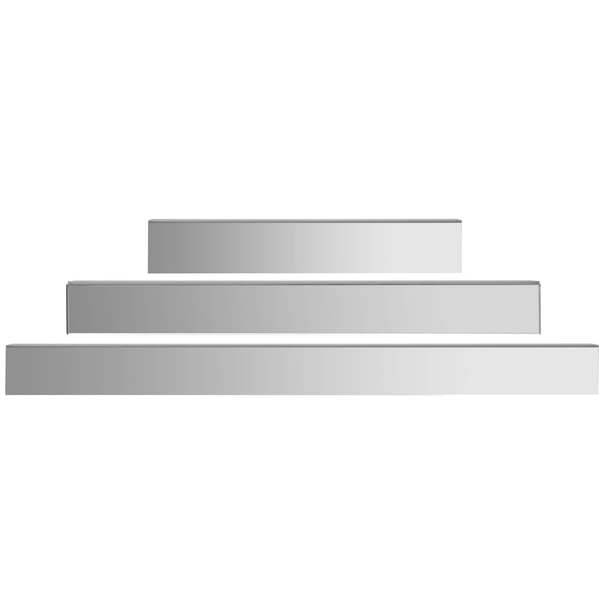 Awe Inspiring Details About Everly Hart Collection Mirrored Floating Shelf Ledge Set Wall Shelves Silver Interior Design Ideas Gentotryabchikinfo