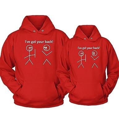 a8742cc15f Southern Designs Matching Couples Hoodies I've Got Your Back Boyfriend  Girlfriend Wife Husband (