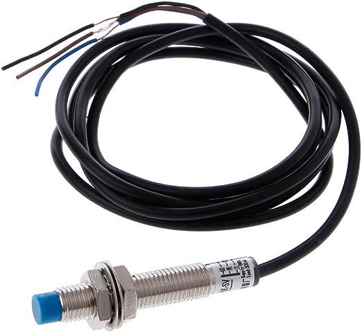 KINTRADE M8 2mm DC 5V NPN NO LJ8A3-2-Z//BX-5V Interruptor de Sensor de proximidad inductivo