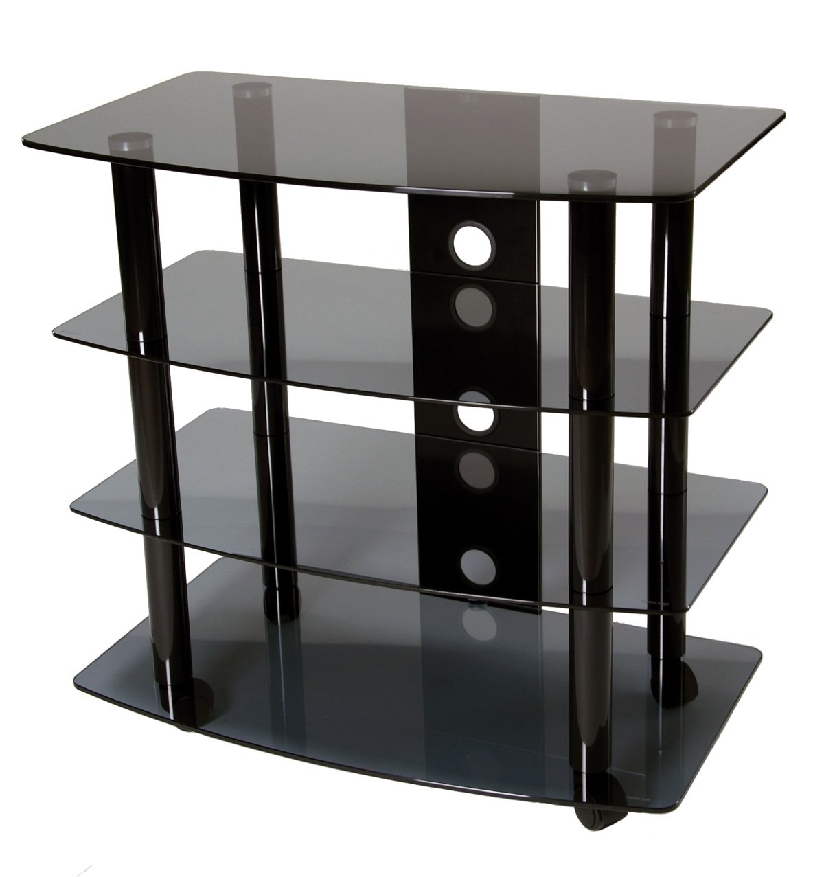 TransDeco High Boy TV Stand with Caster for Up to 35-Inch LED/LCD TV
