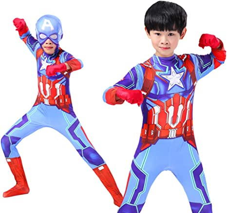 Hero-costume Disfraz Captain America Nino Disfraz De Superheroe ...
