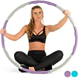 Core Balance Weighted Fitness Hula Hoop Padded Wave Exercise Gym Workout Ab Ring 1.2kg