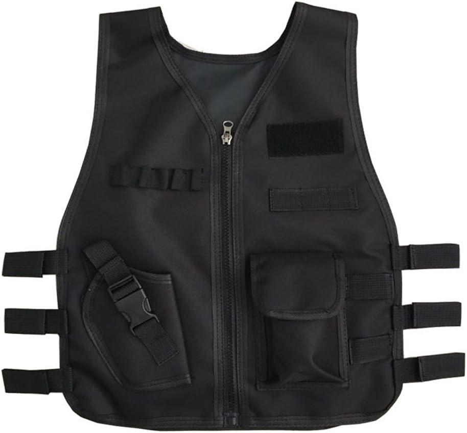 Chaqueta chaleco de niños Kit para Pistolas de Nerf N-strike Elite serie batalla Guardia de seguridad chaleco juegos de combate formación protectora para CS Paintball Airsoft regalo negro Woodland