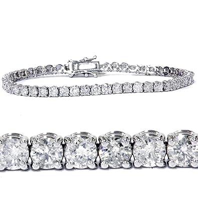 1c3d87ebcb2 Amazon.com  7ct Diamond Tennis Bracelet 14K White Gold  Jewelry