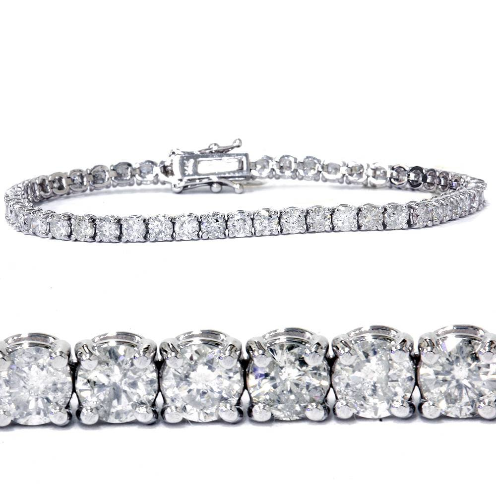 7ct Diamond Tennis Bracelet 14K White Gold