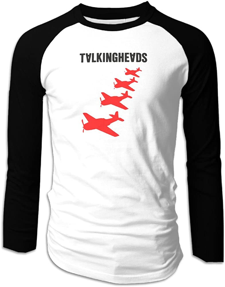 Talking Heads Planes Vintage Men Long Sleeve Baseball Tee Shirts Summer