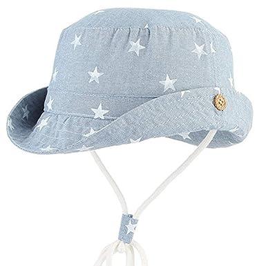 21bdf9b6ee8c2 MRULIC Chapeaux de Soleil Bob Hat Protection Bonnet avec Cordon Coton Bord  étoile Bébé Fille Garçon Soleil Coton Chapeau Anti-UV ...