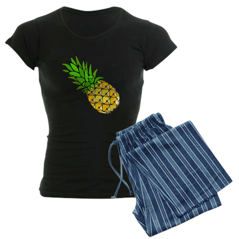71893394 CafePress - Psych - Pineapple.gif Womens Dark Pajamas - Womens Novelty  Cotton Pajama Set ...