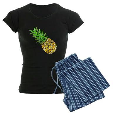 0b112b8b8865f Amazon.com: CafePress Psych - Pineapple.GIF Women's Dark Women's PJs:  Clothing