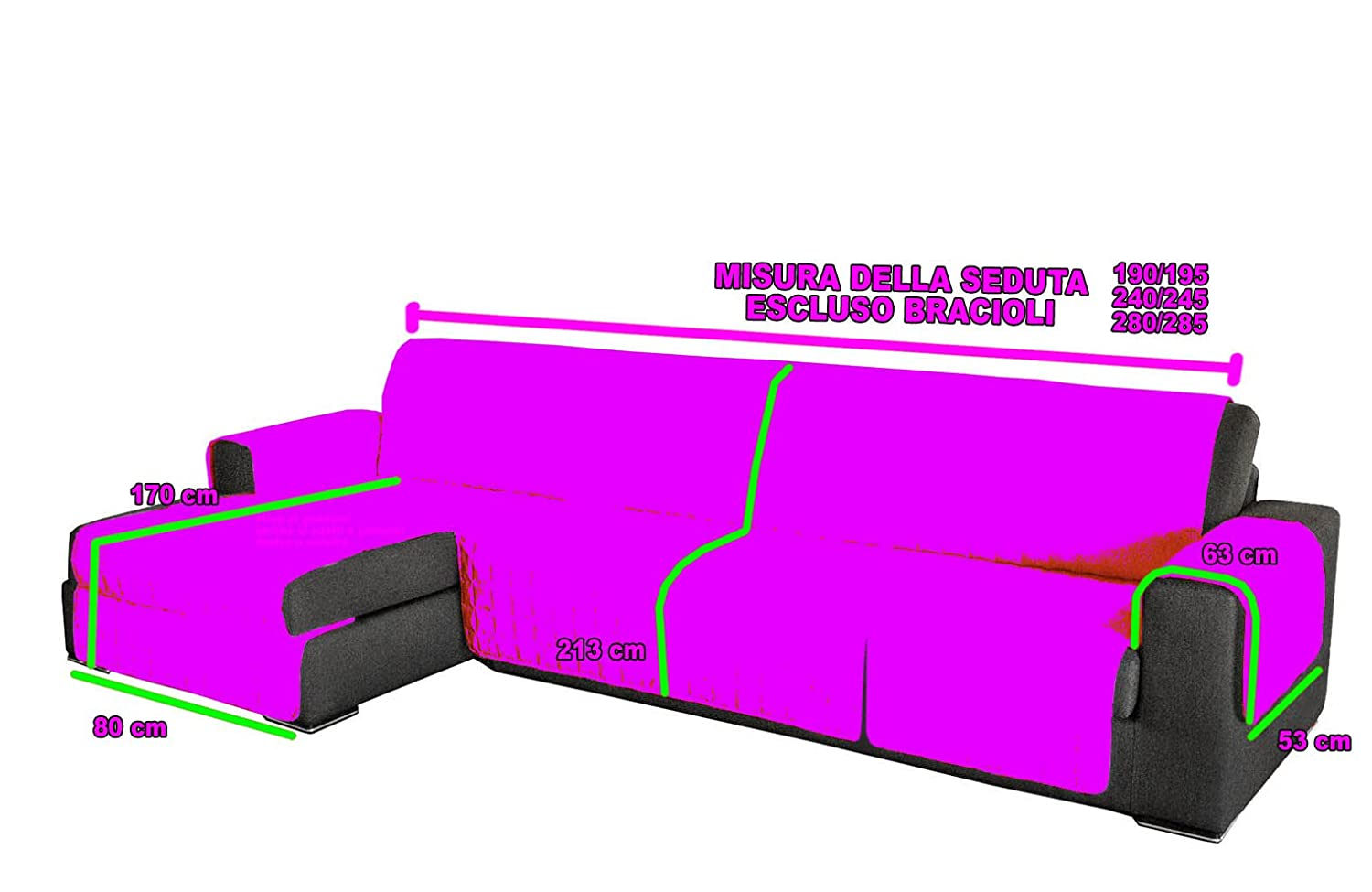 FUNDA PARA SOFÁ CHAISE LONGUE CON BORDADO COLOR CREMA LISO ...