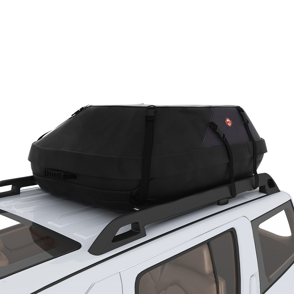 Sailnovo 15 Cubic Feet Car Roof Top Carrier, Water Resistant Car & Van Soft Rooftop Travel Cargo Bag Box Storage Luggage (15 Cubic Feet, Black) by Sailnovo