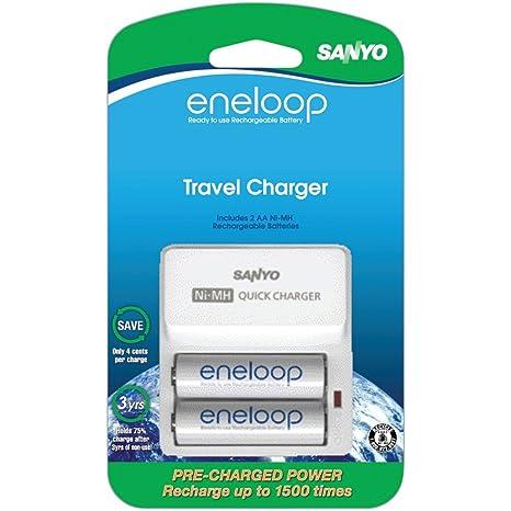 Amazon.com: Sanyo sec-tdr02 N Eneloop 1500 ciclo Kit de ...