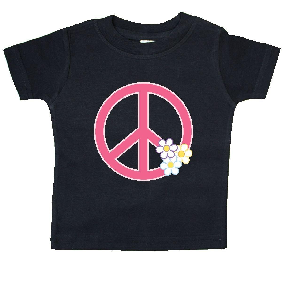 inktastic Peace Sign Cute Daisy Flowers Baby T-Shirt