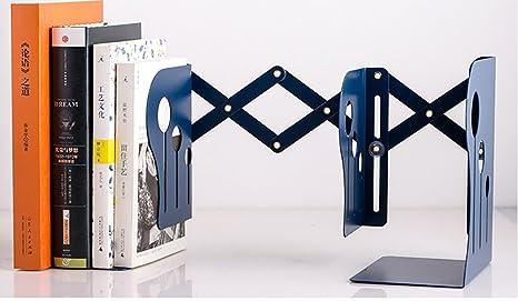 RETON Sujetadores extensibles de hierro de metal Sujetador de libros antideslizante resistente para el hogar o