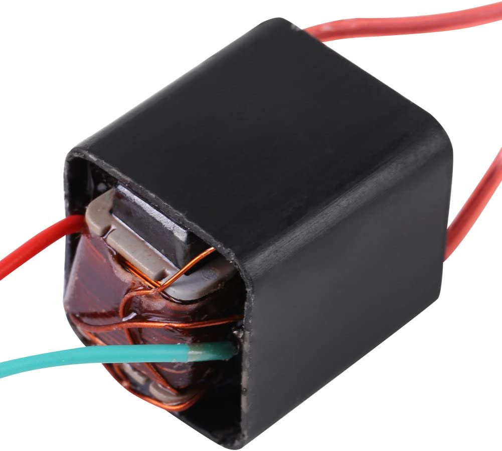 G/én/érateur dImpulsions dArc Miniature DC 3.6 ~ 6 V /à 20 Transformateur KV Haute Tension Boost Step-up Inverter Arc Impulsion G/én/érateur Module Dalimentation Noir