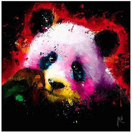 5D DIY Diamond Painting Colorful Animals Embroidery Cross Stitch Hanging Decor
