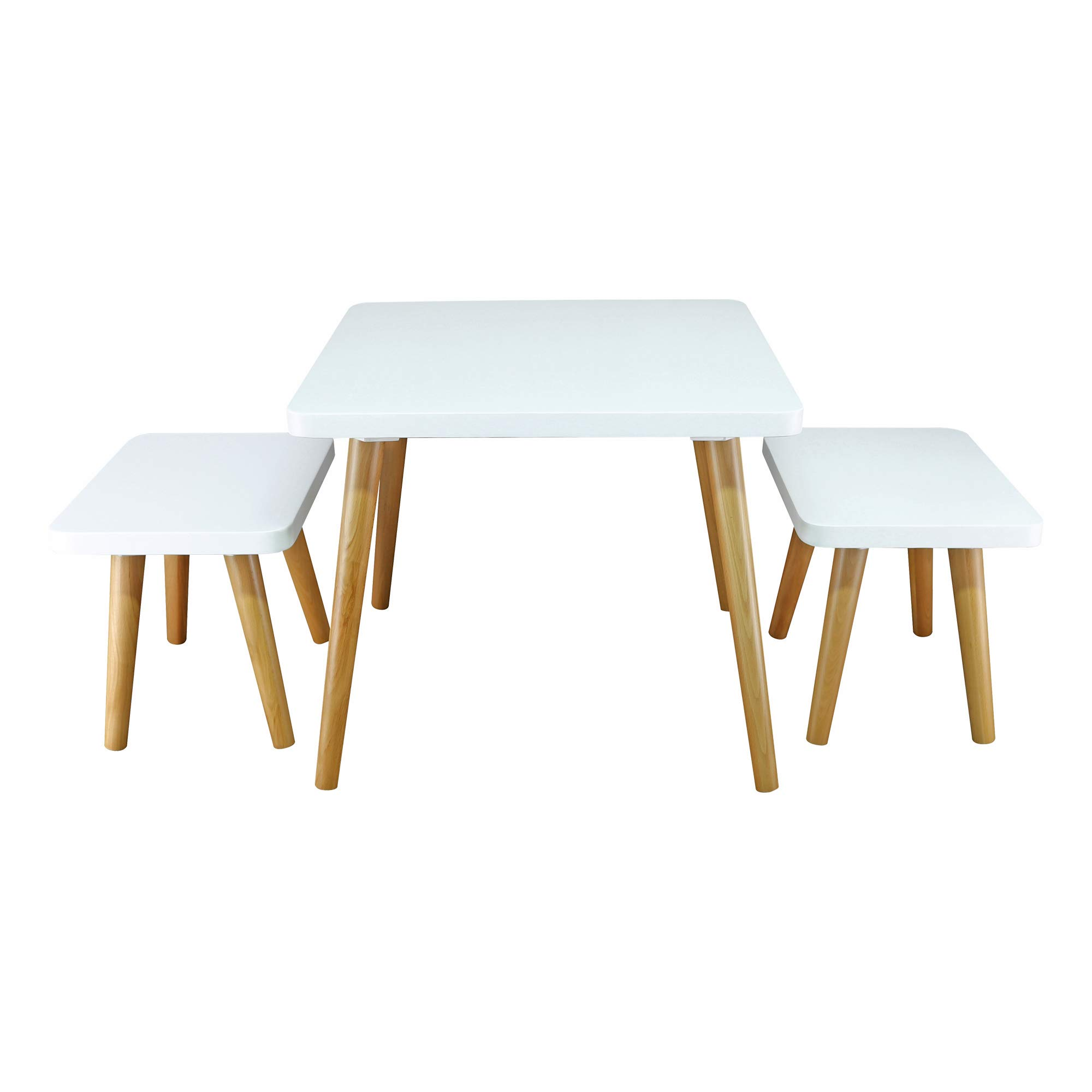 American Trails 560-31 The Easel Table & Chair Set Kid Table, Two-Tone (White, Natural) by American Trails (Image #1)
