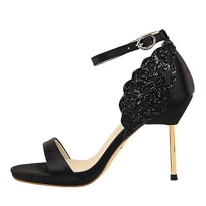 3f8971d96da5f Amazon.com: LIANGXIE Women's Summer Party High Heels Satin High Heel ...