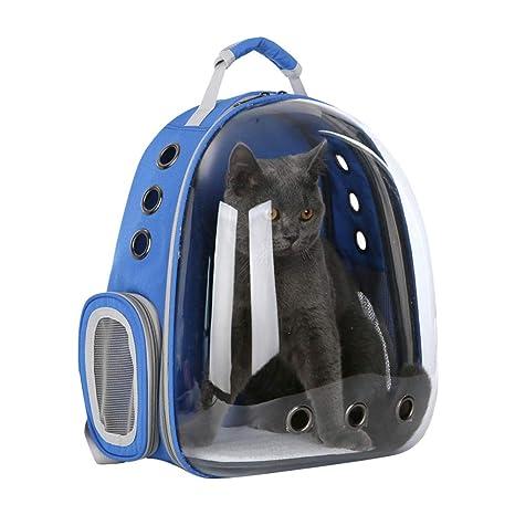 POPETPOP Mochila de Transporte para Mascotas, Mochila Portátil de Cápsulas para Perros y Gatos,