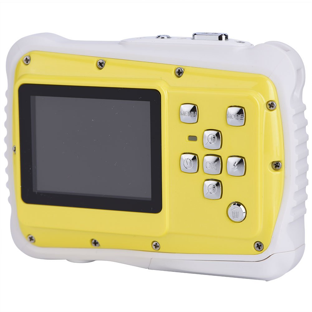 Children Digital Camera Waterproof 2'' Screen 720P HD Photos 8 Mega Pixels with Wrist Straps and USB Cable VGEBY