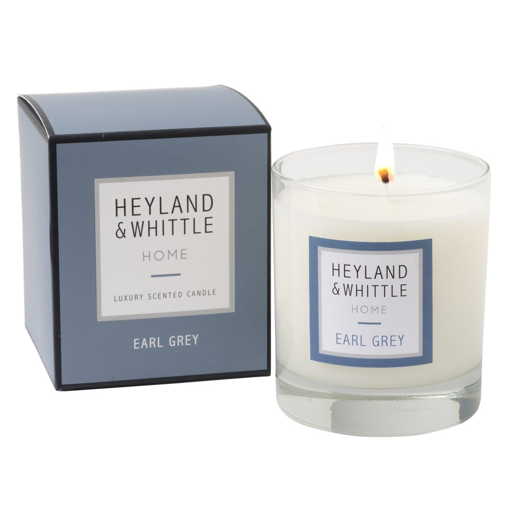 Heyland & Whittle ' HOME '範囲Earl Grey香りつきSoy Candle in aガラスby Heyland & Whittle B00OA3N398