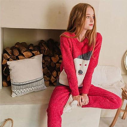 A & W Pijamas de la señora de la Navidad, patrón de la Historieta del
