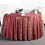 DIDIDD Hotel Tablecloth Continental Restaurant Table Linen Home Coffee Table Table Cloth Tablecloth,A,diameter300cm(118inch)