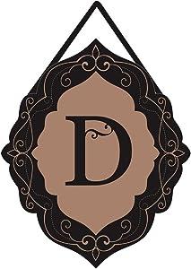 Evergreen Classic Monogram D Burlap Door Decor