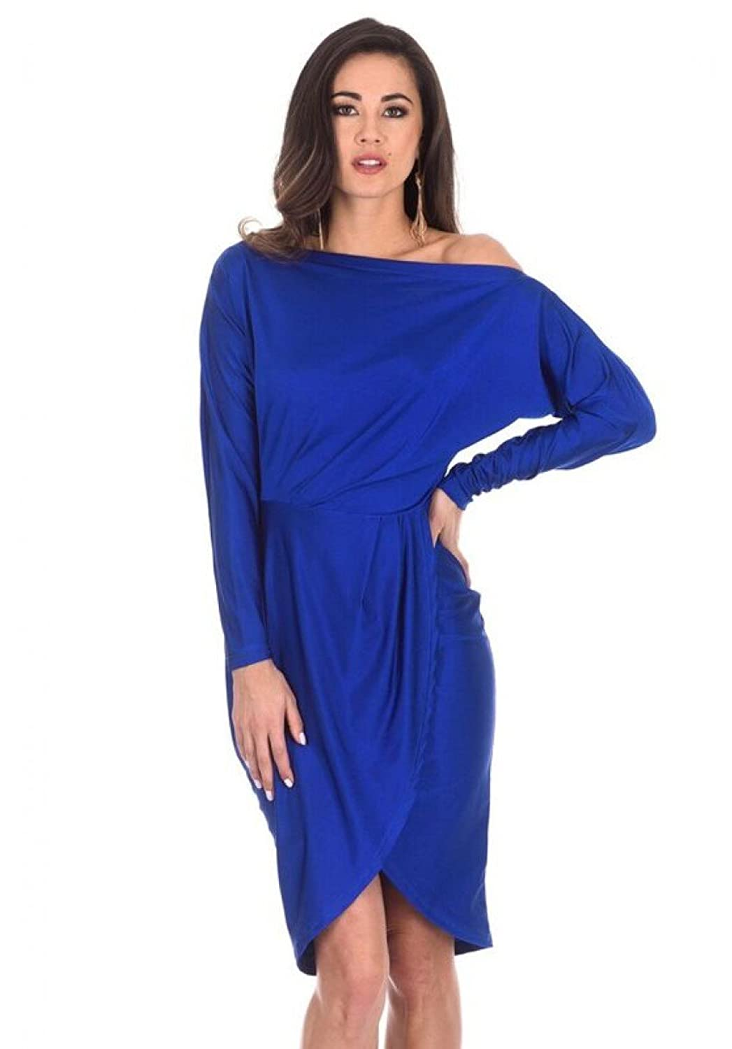 644645c4247cd Rock inthis cute shrug relaxed shoulder wrapped midi; the ultimate girls  night out dress for you! This is a flattering fit and would look unreal  with your ...