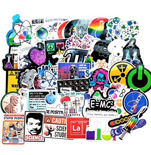HZHUI Trend Novel Laboratorio scientifico Adesivi Spaziali per valigie Laptop Arte Fai da Te Pittura Adesivi Poster Giocattoli da Skate 50 Pezzi