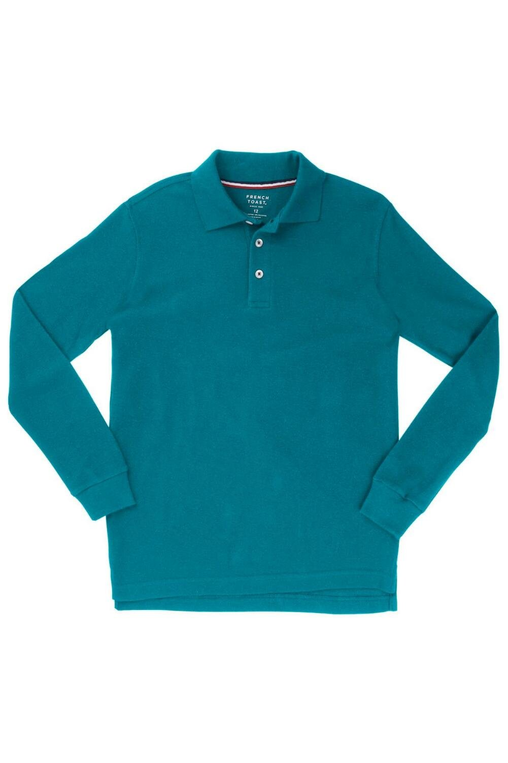 French Toast Long Sleeve Pique Polo