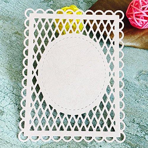 Dies Scrapbooking, Mikey Store Heart Xmas Cutting Dies DIY Stencils Scrapbooking Album Paper Card Craft (Square net) ()