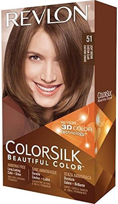 Revlon ColorSilk Colore dei capelli, 51 Capelli scuri 1 bis (pacchetto di 5)