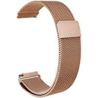 Brain Freezer Milanese Loop Watch Band Steel Stainless Metal Watchband Watch Strap Compatible with Motorola 42mm Moto 360 2nd, Rose Golden