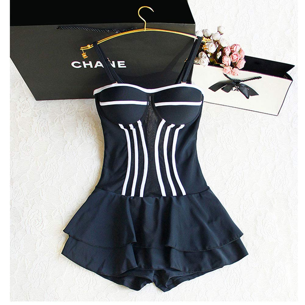 Sexy One Piece Swimsuit, Bathing Suits for Women Black Sexy Jumpsuit Swimwear Beach Strap Dress Swimsuit Fashion Classic Style Slim Slimming for Lady