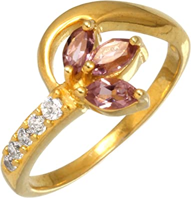 Pink Tourmaline Hydro Ring Party Wear Ring For Women Adjustable Double Stone Ring Gold Plated Brass Ring Tourmaline Gemstone Ring