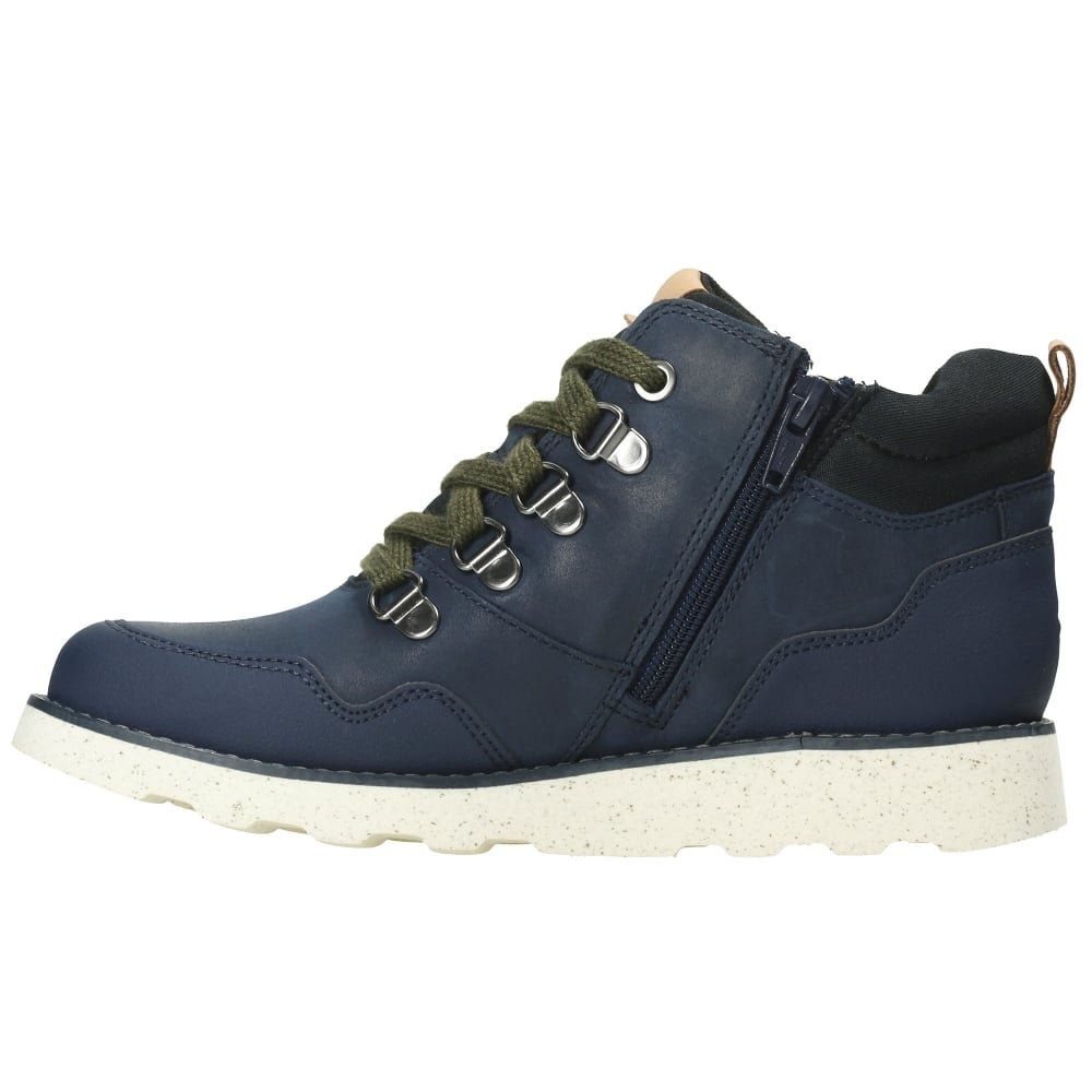 Boys Clarks Casual Ankle Boots Dexy Top