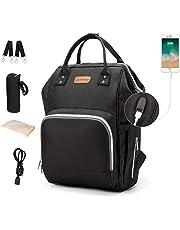 Diaper Bag Backpack Nappy Bags Waterproof Mommy Bag Travel Baby Nursing Multifunction Backpack (Black)