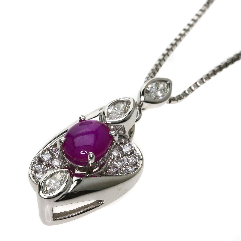 [セレクトジュエリー]スタールビー/ダイヤモンド ネックレス プラチナPT900/PT850 レディース (中古) B07C5GCFVP
