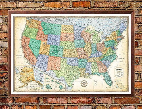 united states map on cork board - 4