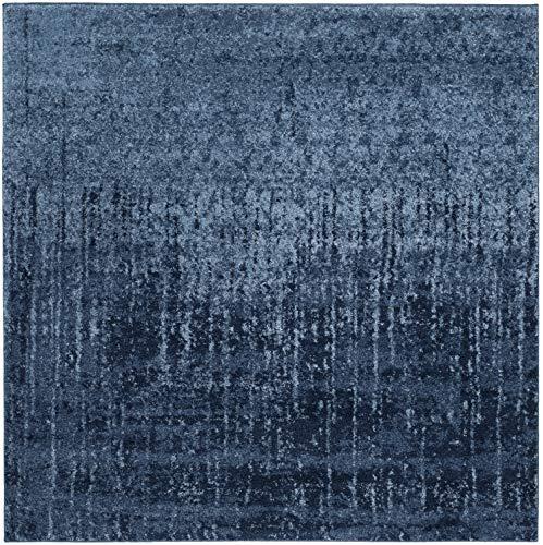 Safavieh Retro Collection RET2770-6065 Light Blue and Blue Modern Area Rug (4' Square)