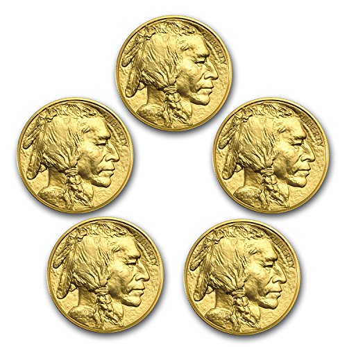 2018 1 oz Gold American Buffalo Coin BU (Lot of 5) Brilliant Uncirculated